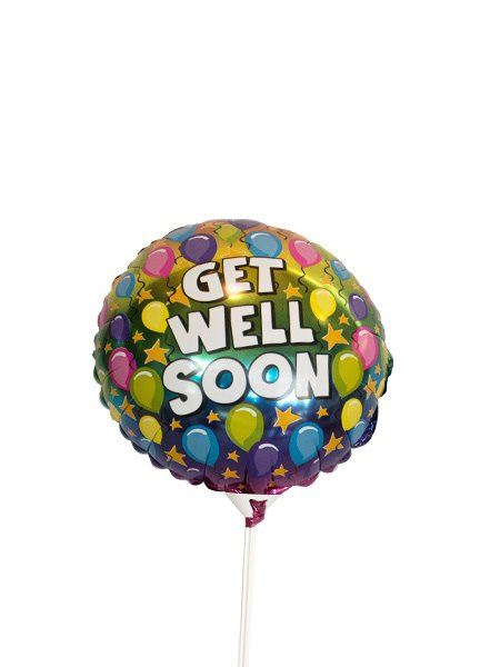 Balloons and Cards: Get Well Soon Foil Balloon